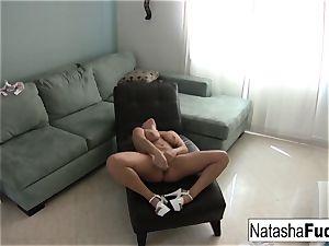 Natasha enjoys a tiny alone time by herself