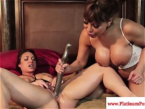 Ava Devine and Brandi May play with their lesbo playthings