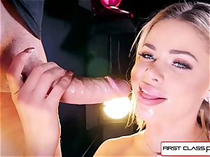 see Jessa Rhodes taking a ample beef whistle down her hatch
