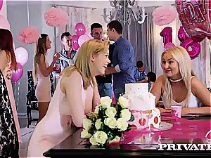 super-fucking-hot ladies make their soiree even nicer adding rock-hard pink cigar to the menu