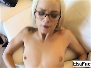 point of view tear up session with Elsa Jean