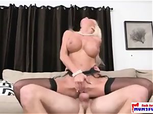 marvelous mature mommy in hard-core action with a boyfriend of her daughter