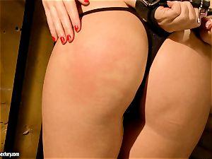 Kathia Nobili kinky jail guard torturing a steamy honey